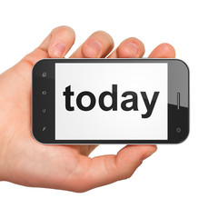 Time concept: Today on smartphone