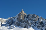 The Aiguilles du Midi mountain range in Chamonix