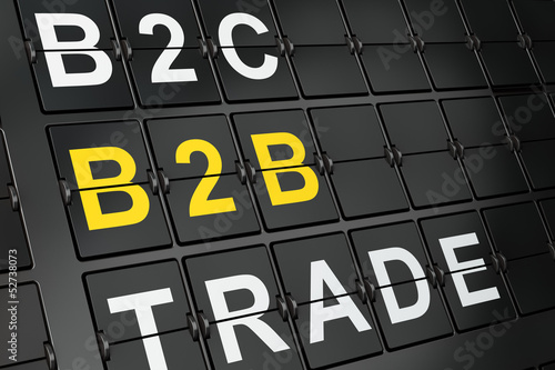 Finance concept: B2b on airport board background