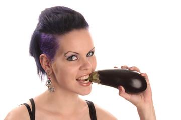 Aubergine essen