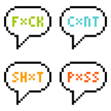 8-bit Pixel 4-Letter Swear Words in Speech Bubbles Isolate on Wh poster