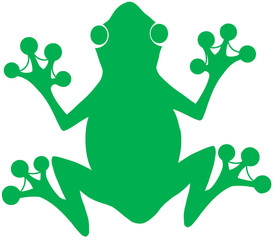 Green Frog Silhouette Logo