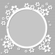cornice floreale astratta sui toni del grigio