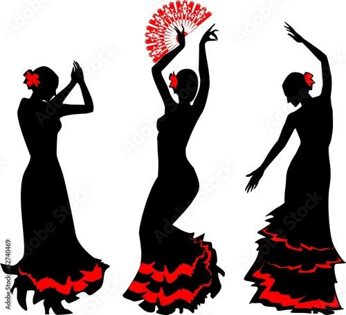 Fototapeten,tanzenfeiern,flamenca,silhouette,silhouette