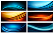Set of business elegant colorful abstract backgrounds. Vector il
