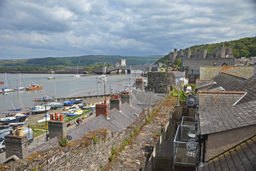 Conwy rooftops