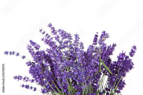 Deurstickers Lavendel Bouquet of picked lavende