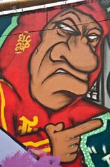 Graffiti personnage antipathique
