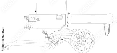 Machine Gun Maxim Vector 01