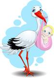 Fototapety the stork brings the child