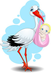 the stork brings the child