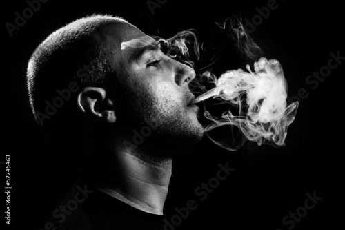 Leinwandbild Motiv Smoking