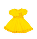baby yellow dress isolated on white background