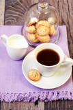 Cup of coffee, little spritz biscuits