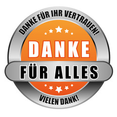 5 Star Button orange DANKE FÜR ALLES DFIV VD