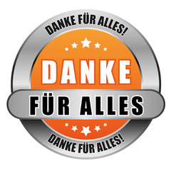 5 Star Button orange DANKE FÜR ALLES DFA DFA