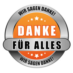 5 Star Button orange DANKE FÜR ALLES WSD WSD