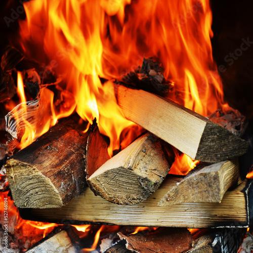 mata magnetyczna ogień w kominku