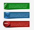 Vector information banner design element.