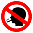 Vector no smoking symbol