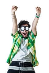 Cheering guy