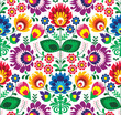 Seamless traditional floral polish pattern - ethnic background - 52746802