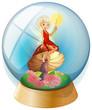 A fairy inside a crystal ball