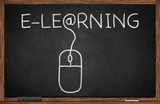 E-learning on chalkboard