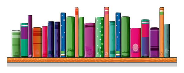 A shelf full of books