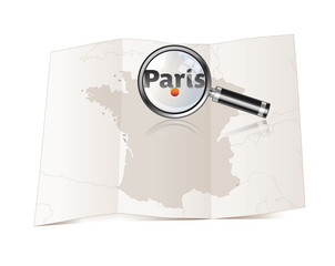Carte de France - PARIS