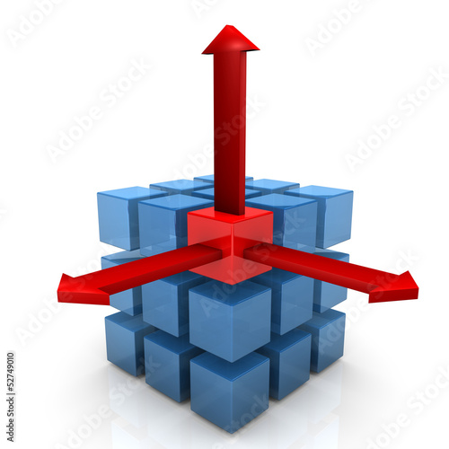 Three Cubes Three Arrows