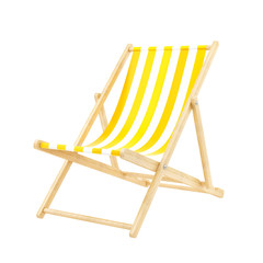 render of a deck chair, isolated on white