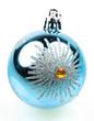 boule bleue décoration sapin de Noël
