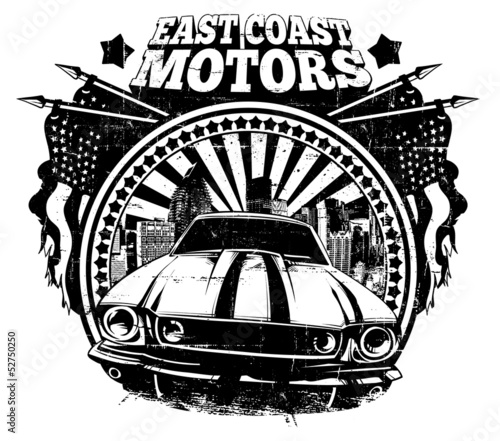 East coast motors © Tshirt-Factory.com