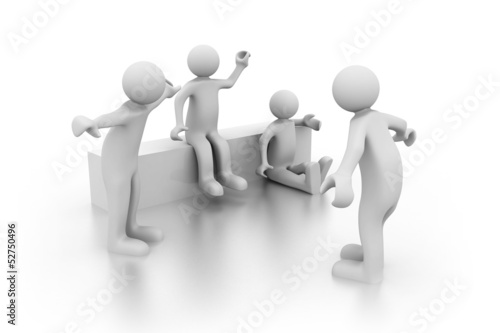 Group of friends. 3d rendered illustration.