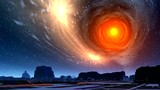 White hole and city of aliens