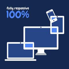100% fully responsive web design