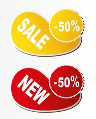Discount labels - 50%. Vector