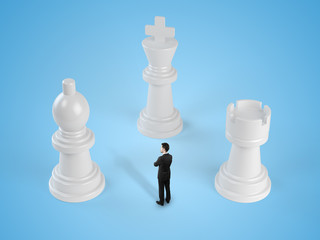 businessman and chess