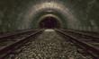 Leinwanddruck Bild - train tunnel