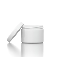 Cosmetic creme with open cap