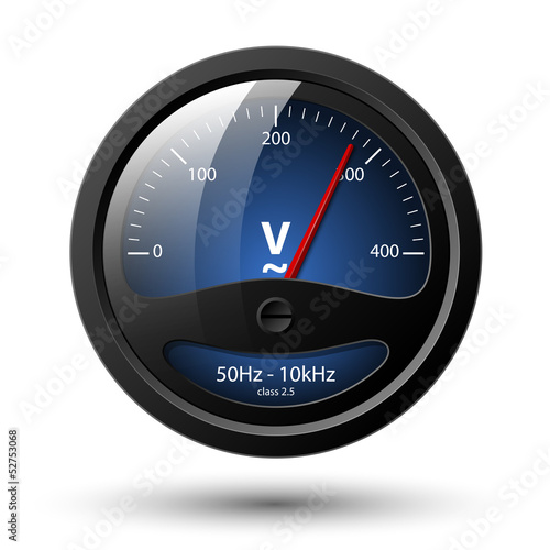Vector voltmeter icon