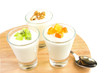 Fresh yogurt with fruits