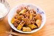 淡竹と鶏肉の照り煮