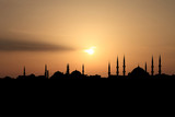City of Istanbul silhouette against sunset