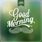 Good Morning Typographical Background poster