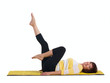 mature woman doing gymnastics exercise