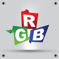 RGB letters design art image