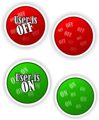 Offline, online buttons for chat