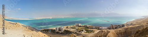 panorama of resort on dead sea